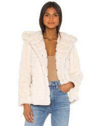 Apparis Куртка Из Искусственного Меха Goldie В Цвете Светло-бежевый - Белый