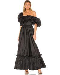 LoveShackFancy Tara ドレス - ブラック