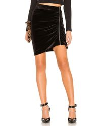 1.STATE - Zip Velvet Mini Skirt In Black - Lyst