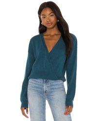 Bobi Black Fine Cotton Sweater - Blue