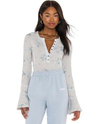 Free People Layer me henley - Gris