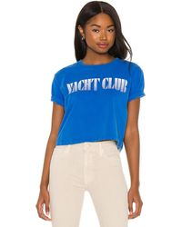 Mother Футболка The Short Sleeve Slouch В Цвете Yacht Club - Синий