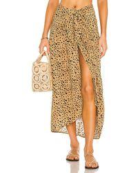 ViX Ruffle Pareo Skirt - Brown