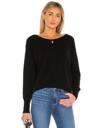White + Warren Cashmere Two Ways To Wear Sweater - Black