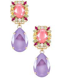 Anton Heunis Свисающие Серьги В Цвете Spring Colors - Purple. Размер All. - Пурпурный