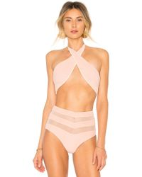 Tularosa - Cher Top In Coral - Lyst