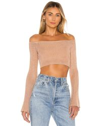 Nbd Colombo Cropped Sweater - Natural