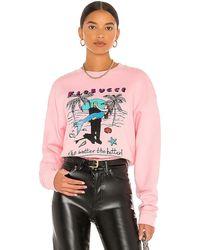 Fiorucci Frankenstein Mermaid Sweatshirt - Pink