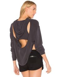 Free People - Movement Back Into It Hoodie In Black - Lyst