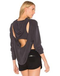 Free People X Fp Movement Back Into It Hoodie - Black