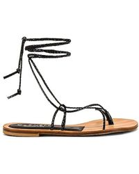 Cornetti Ermi Lace Up Sandal - Black