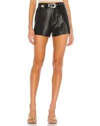 GRLFRND Westley Leather Shorts - Black