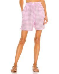 Frankie's Bikinis Lou gingham short - Rosa