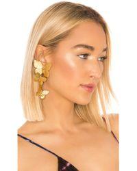Jennifer Behr Alessandra Clip On Earrings - Mettallic