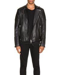 AllSaints Jasper Leather Biker Jacket - Schwarz