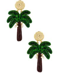 Mercedes Salazar Palm Tree Earring - Grün