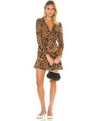 Astr Мини Платье Nikita В Цвете Burnout Leopard - Brown. Размер S (также В Xs). - Многоцветный