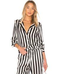 Anine Bing Striped Pajama Shirt - Black