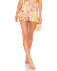 Lovers + Friends - Ruffled Up Short In Yellow - Lyst