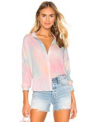superdown Рубашка С Застёжкой На Пуговицах Miranda В Цвете Омбре - Pink. Размер Xxs (также В Xs,s,m). - Розовый