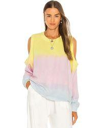 Electric and Rose Lotus Sweatshirt - Multicolour