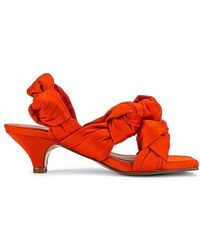 Ganni Knotted Slingback Heel - Red