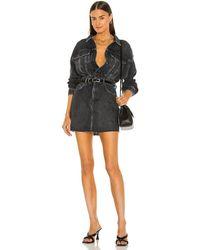 AllSaints Мини Платье Jacket В Цвете Промытый Черный