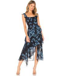BCBGMAXAZRIA Midi Cocktail Dress - Blue