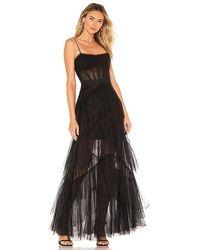 BCBGMAXAZRIA Corset Tulle Gown - Black