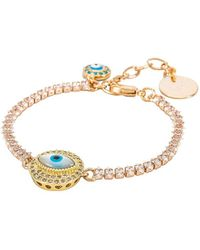 Anton Heunis Eye Crystal Chain Bracelet - White