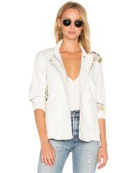 Hudson Jeans - Varsity Embroidered Jacket - Lyst