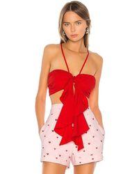 Camila Coelho Madelyn Crop Top - Red