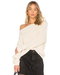 Callahan Shaker Knit Off Shoulder Sweater - Natural