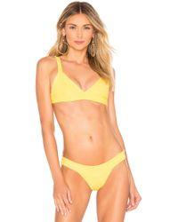 505283ef32a1e Lyst - Indah Laguna Cut Out Bikini Top in Black