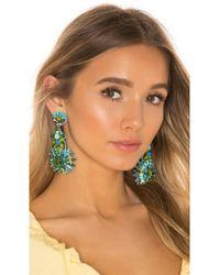 Ranjana Khan Gem Cluster Earring - Green