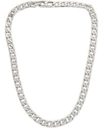 BaubleBar Ожерелье Small В Цвете Серебряный - Металлик