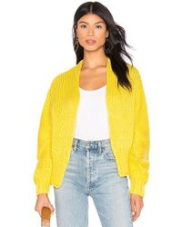 Free People Glow For It Cardi - Yellow