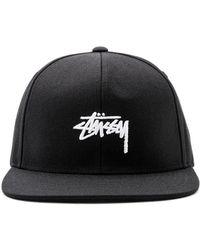Stussy - Stock Fa17 Snapback In Black. - Lyst