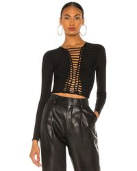 Dion Lee Central braid top - Negro