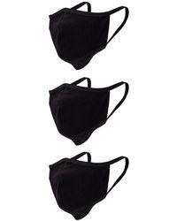 John Elliott Маска Для Лица 3 Pack В Цвете Черный. Размер All.