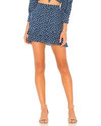 For Love & Lemons - X Revolve Buttoned Skirt In Blue - Lyst