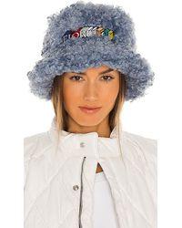 Fiorucci Shearling Bucket Hat - Blue