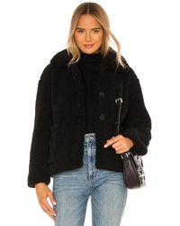 Apparis Charlotte Faux Fur Jacket - Schwarz
