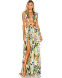 Bronx and Banco Платье Tropics В Цвете Многоцветный - Зеленый