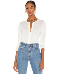 Theory TOP MANCHES LONGUES TWIN SET - Blanc