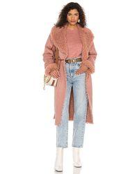 Tularosa Maisey Faux Suede Jacket - Pink