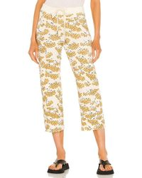 The Great The Cropped Wide Leg Sweatpant - Multicolour