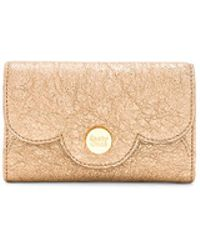 See By Chloé - Polina Small Wallet In Metallic Gold. - Lyst