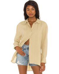 Seafolly Beach Linen Shirt - Grün