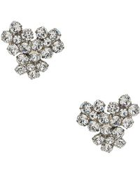 Jennifer Behr Violet Stud Earrings - Mettallic